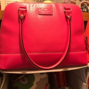 Hot pink Kate spade dome handbag 👜 purse